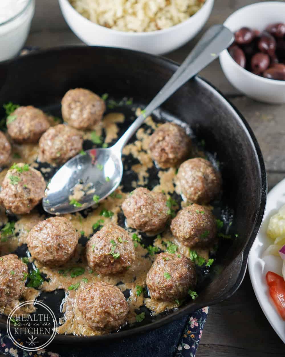 Gyro Lamb Meatballs {Paleo, Low-Carb & Whole 30}