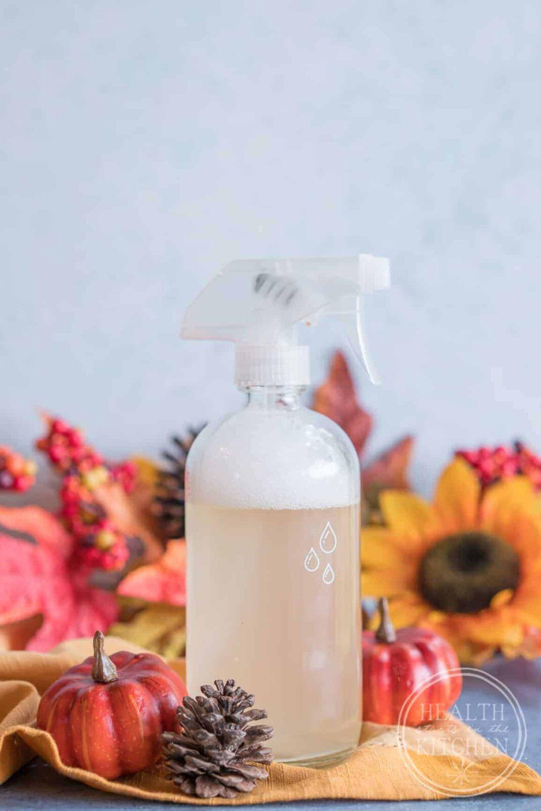 DIY Pumpkin Spice Latte Non-Toxic Cleaning Spray