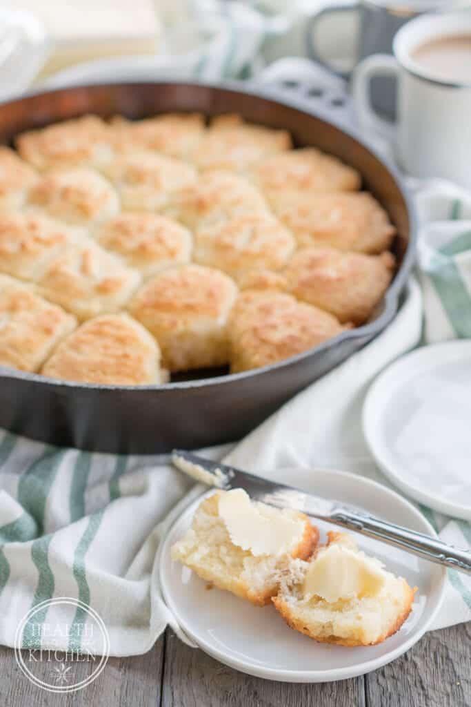 Cast Iron Butter Drop Biscuits {Gluten-Free}
