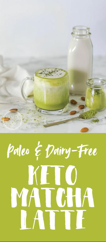 Healthy Matcha Latte {Keto, Low-Carb & Paleo}