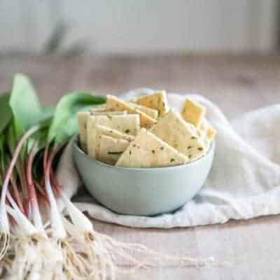 Creme Fraiche Ramp Crackers {Low-Carb, Primal and Gluten-Free}