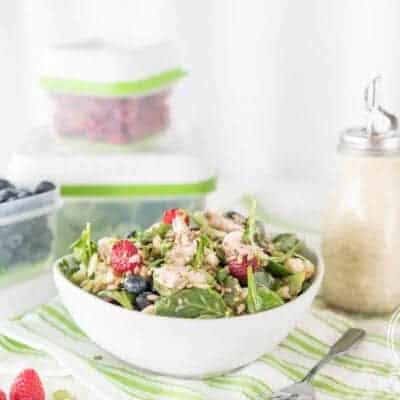 Fridge Clean Out Salad with Honey Poppyseed Dressing