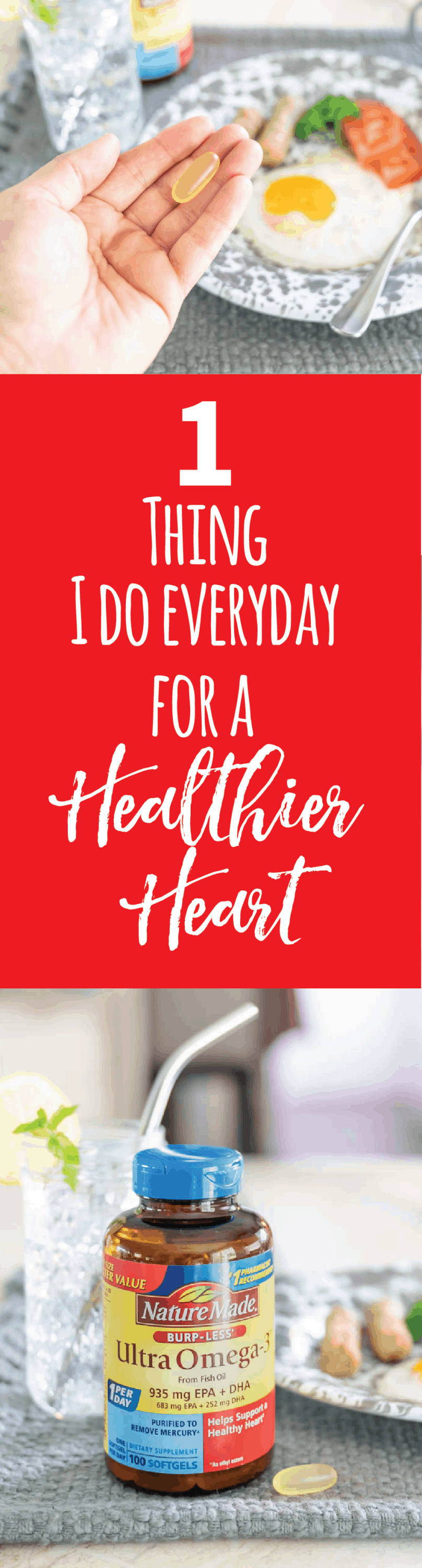 1 Thing I do Every Day for a Healthier Heart #ad #naturemadehearthealth