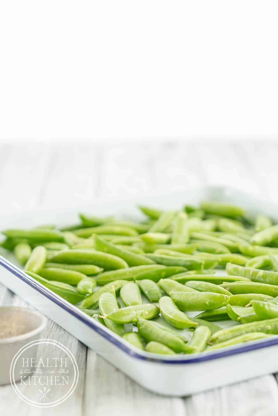 My Parmesan Garlic Roasted Sugar Snap Peas are a fun way to enjoy an old favorite vegetable.
