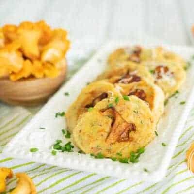 Savory Chanterelle Mushroom Pancakes