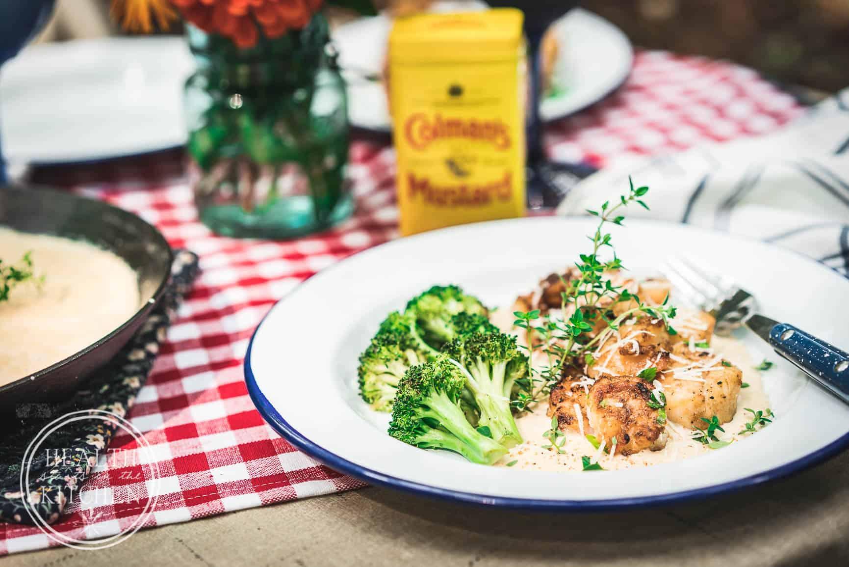 Campfire Grilled Shrimp and Scallops with Magic Creamy Cajun Mustard Sauce