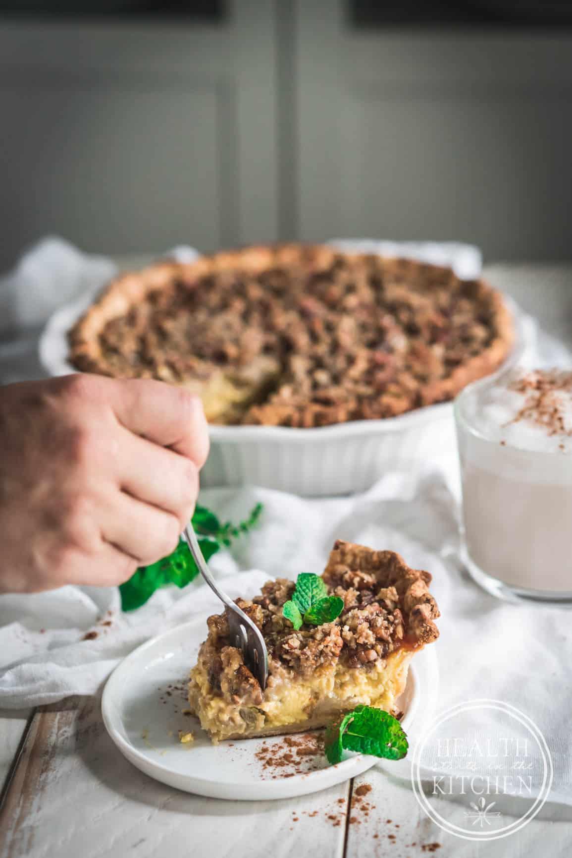 Chai Tea Apple Custard Pie