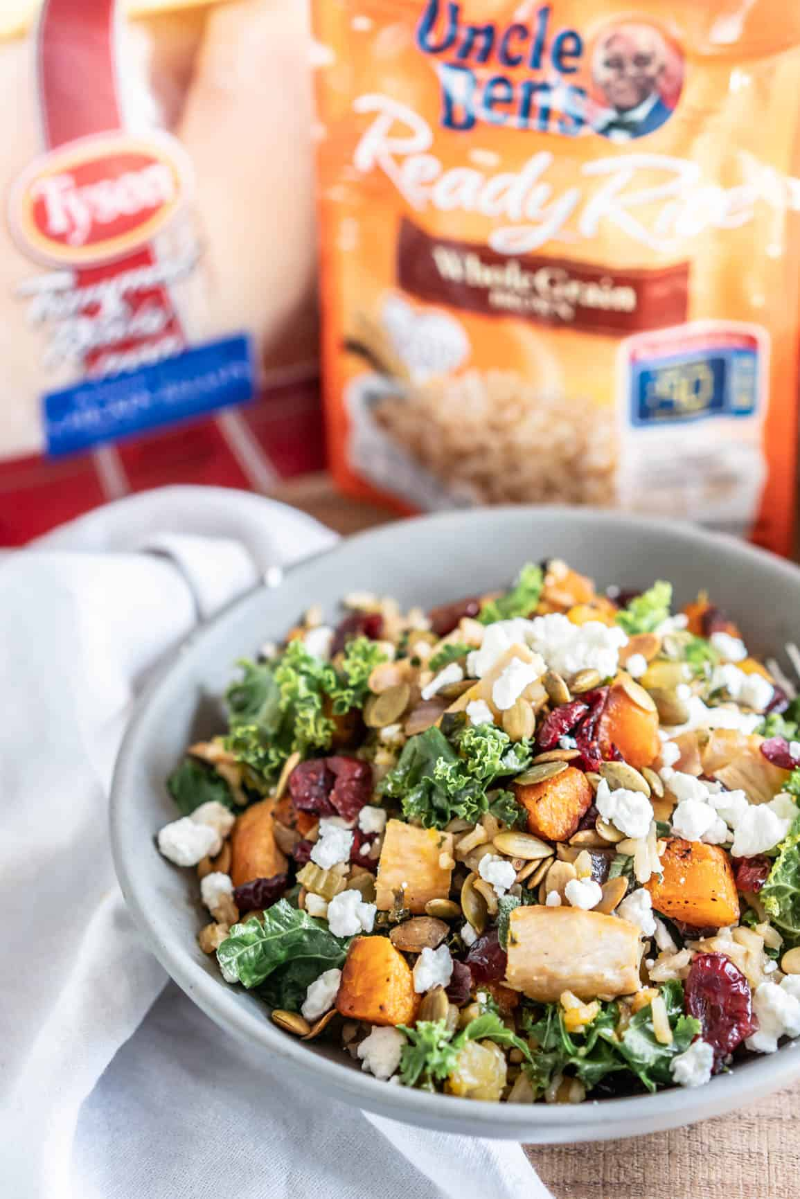Maple Cider Hash with Butternut Squash, Chicken and Brown Rice