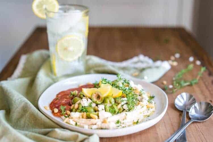 Keto Whipped Ricotta Bowl with Castelvetrano Olives