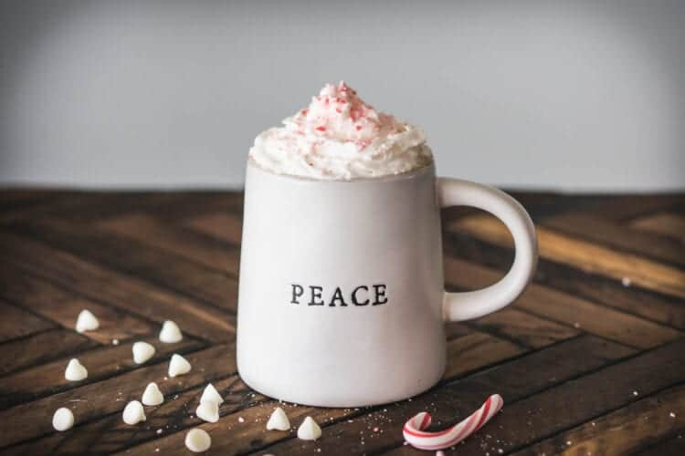 Holiday White Chocolate Peppermint Pour Over Coffee