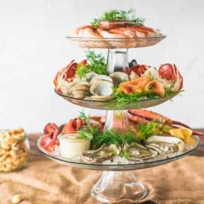 How to make the Ultimate Holiday Chilled Seafood Tower DIY #ad #FlavorYourWorld #CollectiveBias #Feastof7Fishes