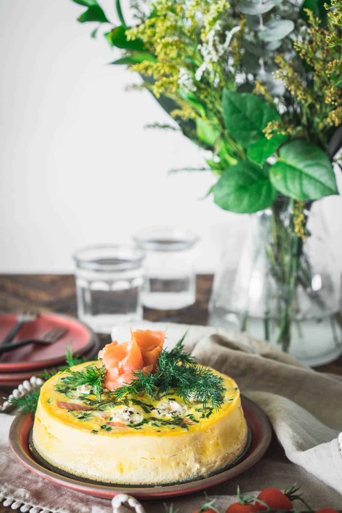 Pressure Cooker Smoked Salmon Frittata {Keto, Low-Carb & Gluten-Free}