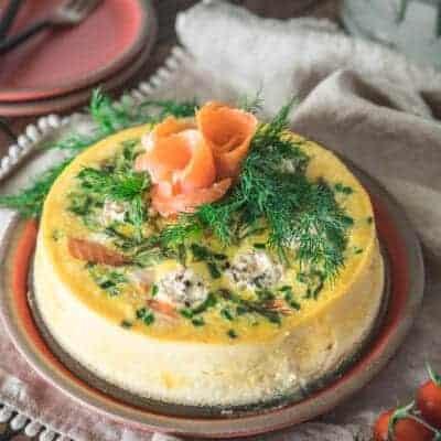 Pressure Cooker Smoked Salmon Frittata {Keto, Low-Carb & Gluten-Free}Pressure Cooker Smoked Salmon Frittata {Keto, Low-Carb & Gluten-Free}