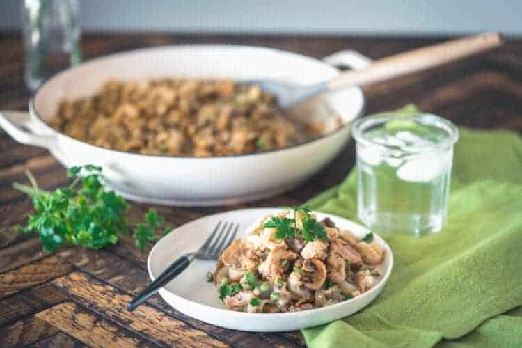 Keto Dairy-Free Tuna Noodle Casserole from your Pantry {Paleo}
