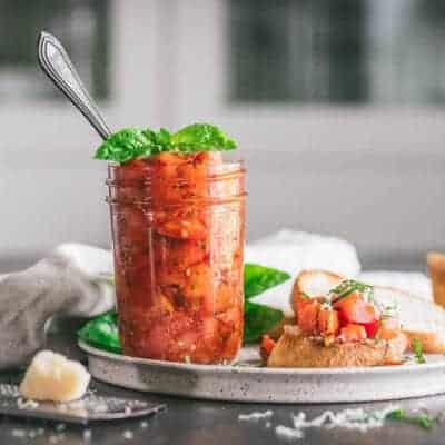 Easy Tomato Bruschetta in a Jar Recipe
