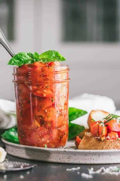asy Canned Tomato Bruschetta in a Jar Recipe
